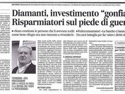 Truffa diamanti per investimento anche in Friuli Venezia Giulia